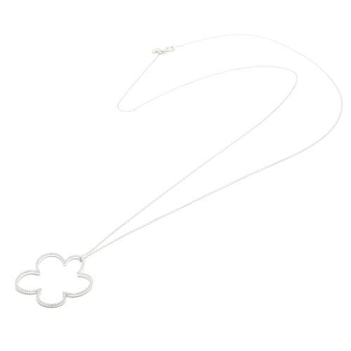 Colgante Plata Agatha Largo Nube