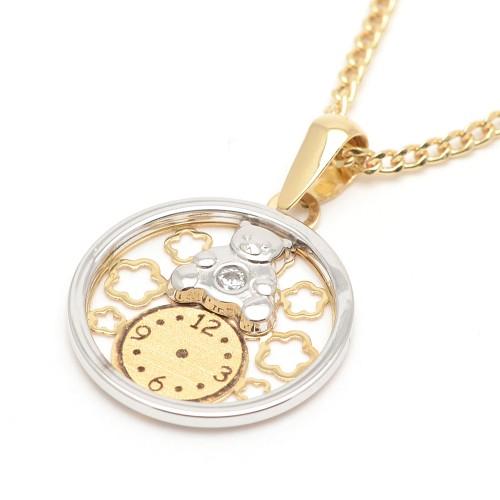 Medalla Oro Osito con Reloj