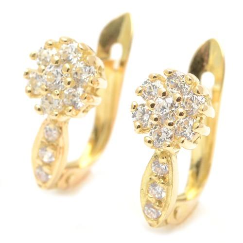 Pendientes Oro Niña Corazón Perla