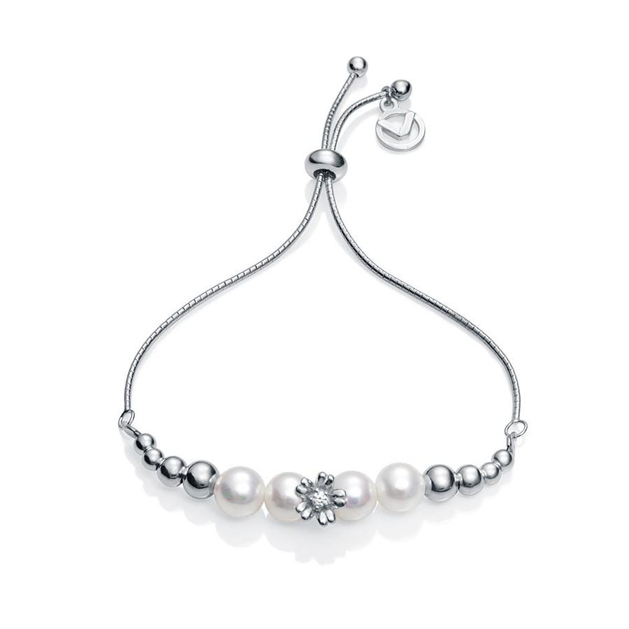 8a0efc5efce8 Pulsera Viceroy de plata con perlas y flor para niña de Comunión