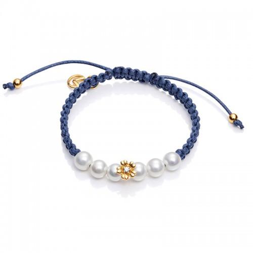 Pulsera Viceroy Niña Azul Perlas Flor
