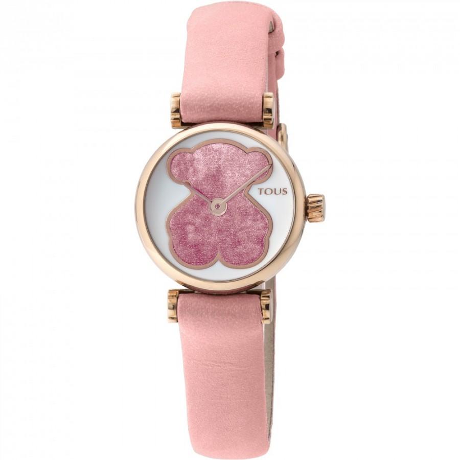 046d9212d11d Reloj Tous Camille Oso 21 Dorado Correa Piel Rosa