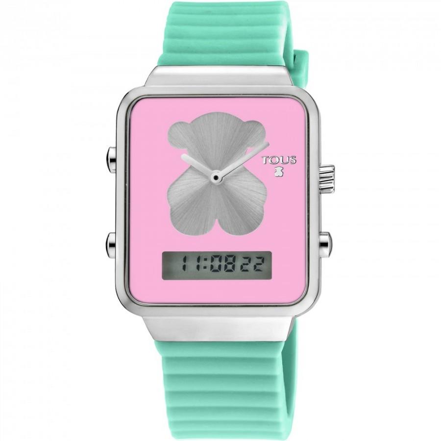 b0e961d42398 Reloj Tous I-Bear digital correa goma verde