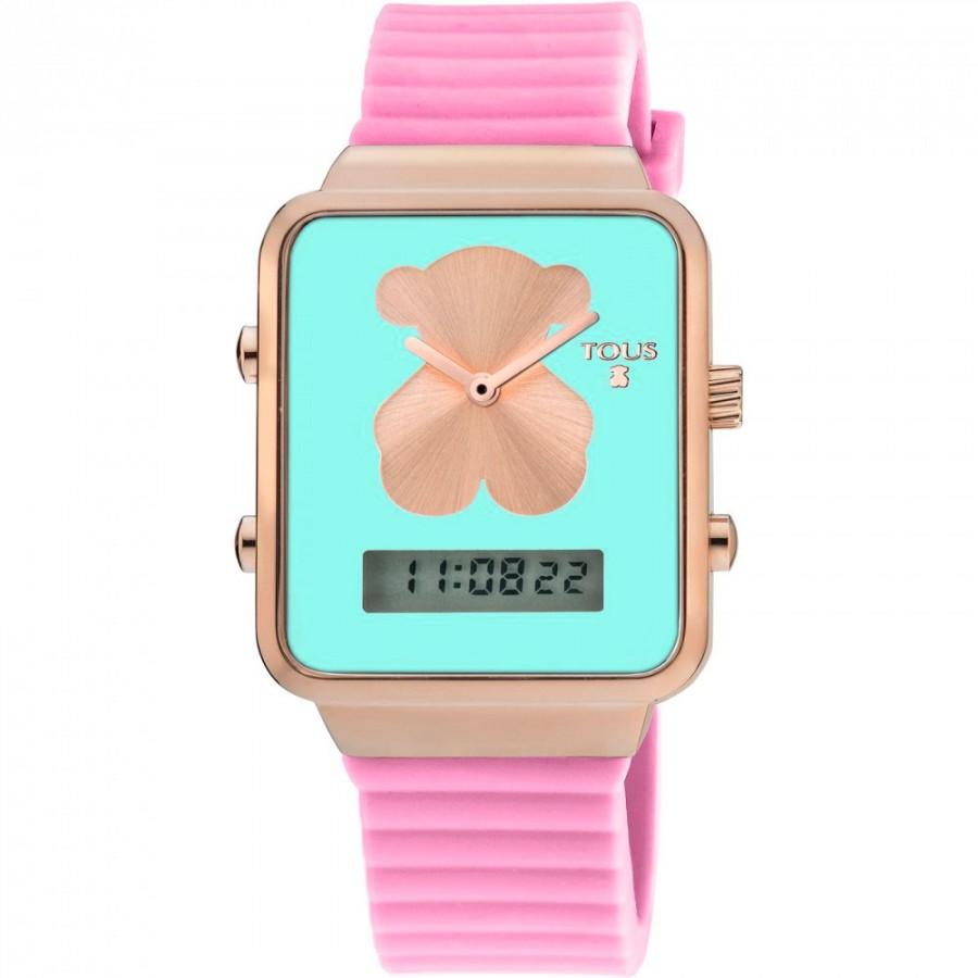 revisa 5f771 28813 Reloj Tous Digital I-Bear Dorado Correa Rosa