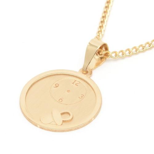 Medalla Oro Bebé Chupete con Reloj