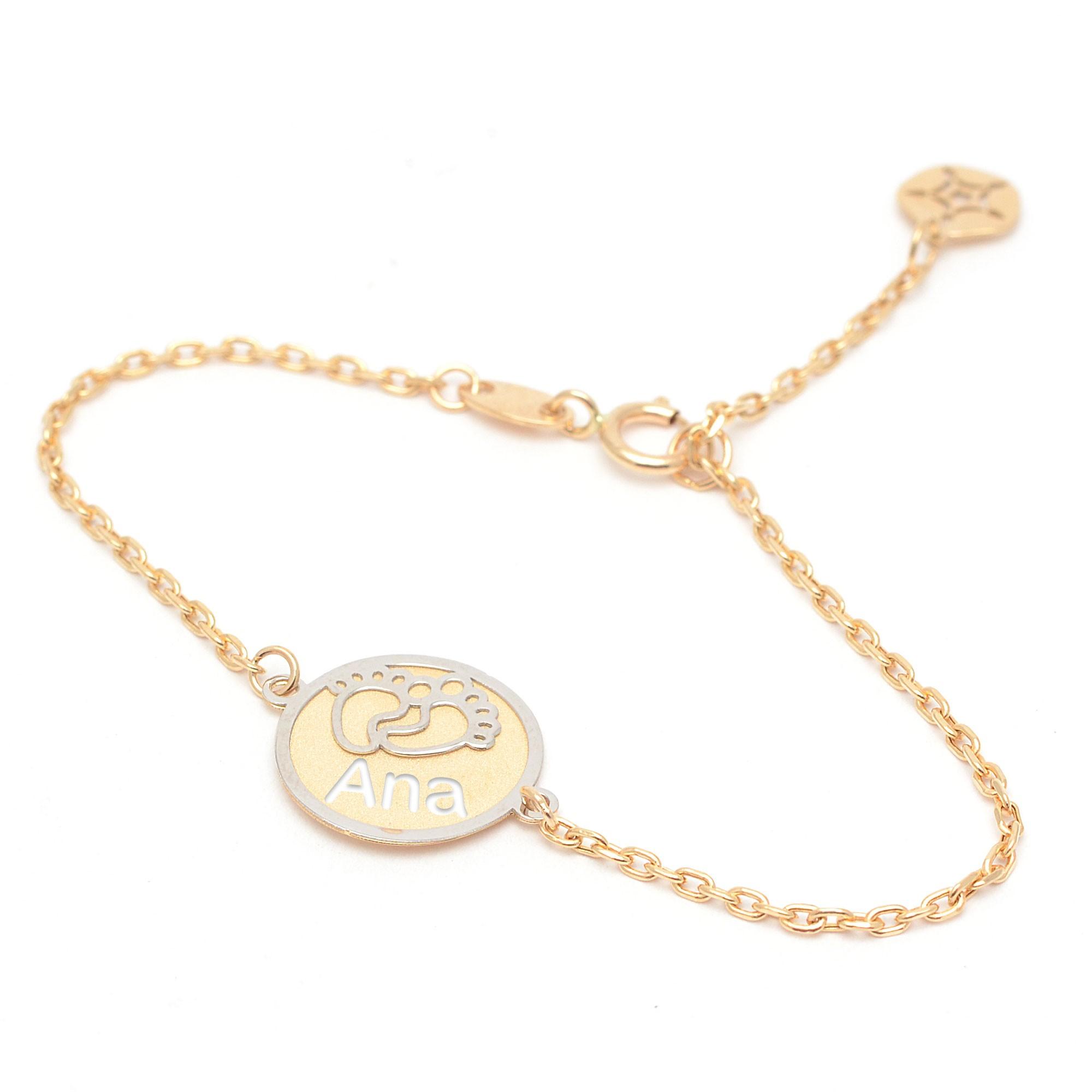 8c2e12f8d261 Pulsera Oro Bebé Perlas Nombre