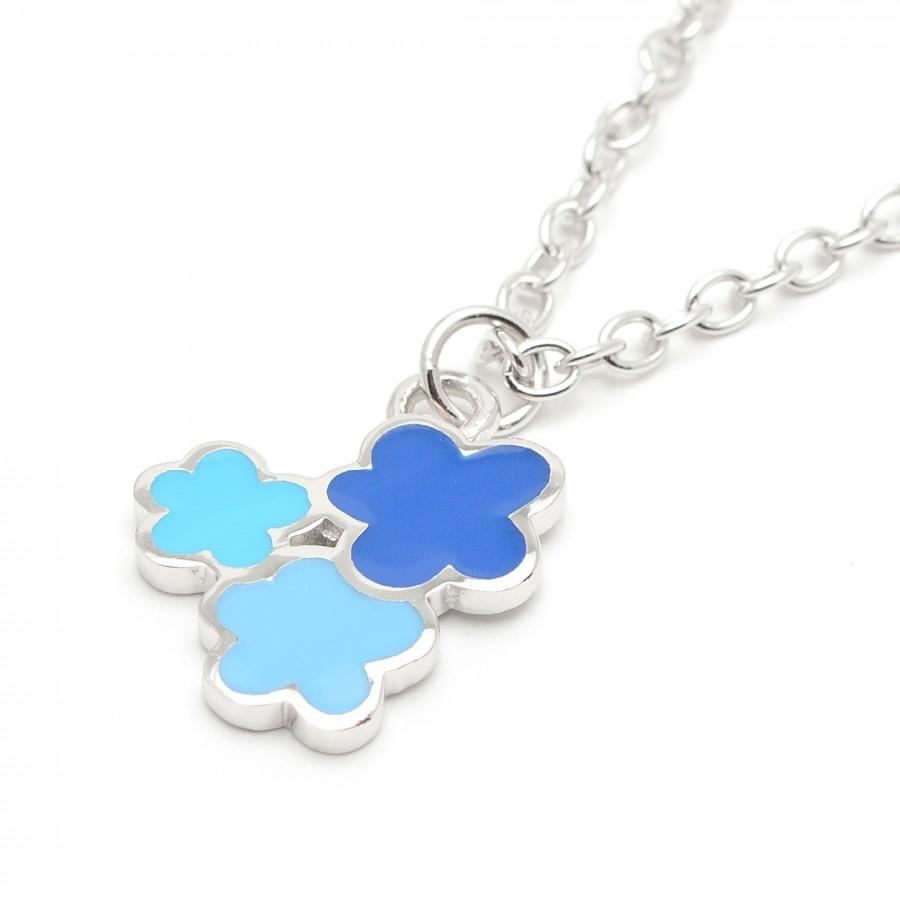 bbea180dee13 Colgante Niña Agatha Flores Azules