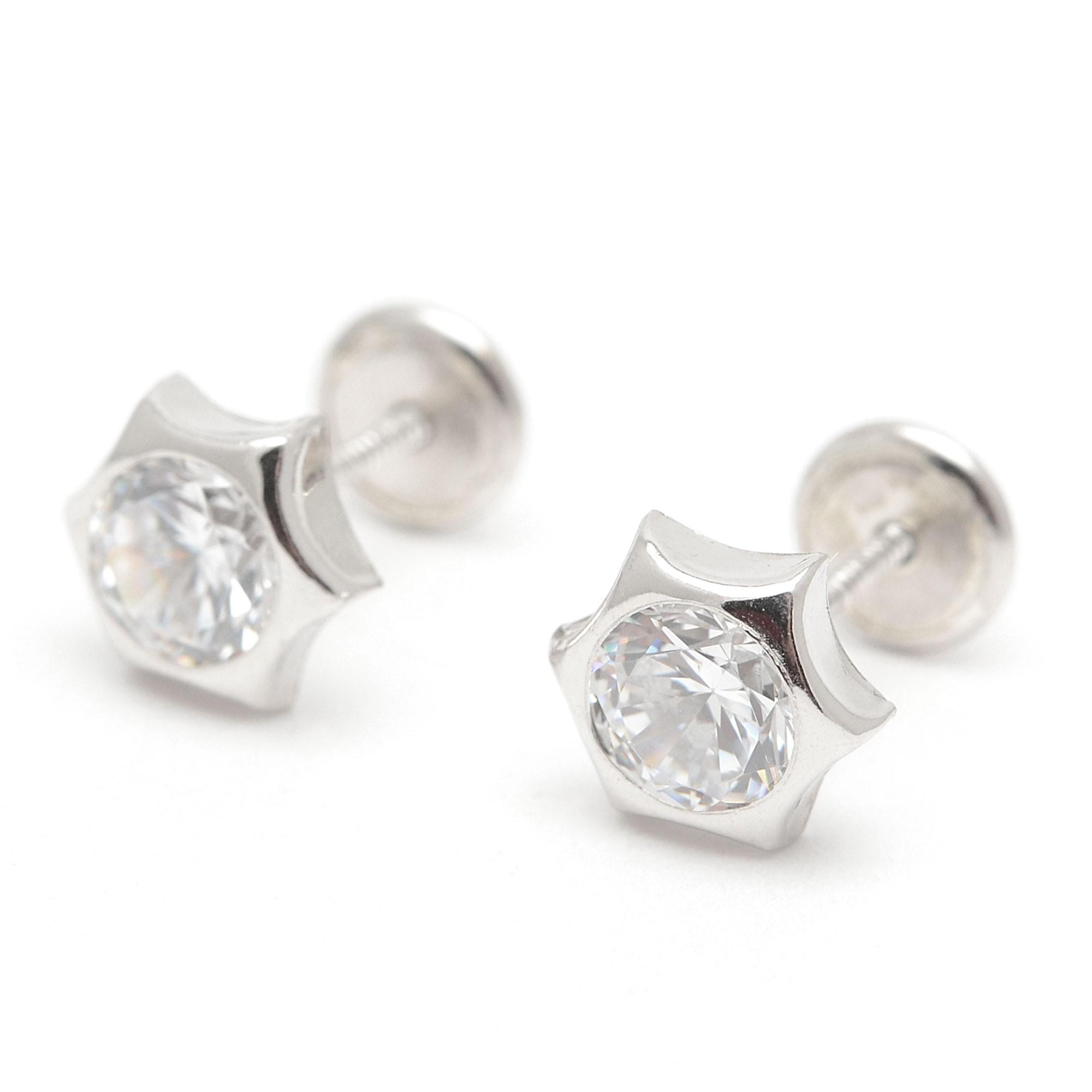 Opal 925er Sterling plata pendientes aretes creolen plegable circonita piedra nuevo