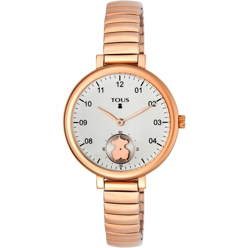 Reloj Tous Spin Flex Dorado Brazalete Elástico Acero