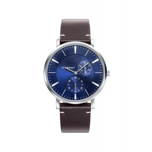 Reloj Viceroy Chico Azul Correa Marrón