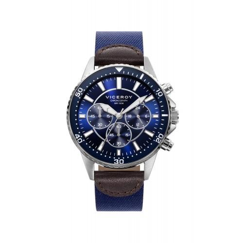 Reloj Viceroy Deportivo Chico Correa Tela Azul