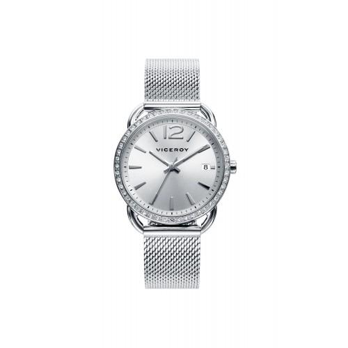 Reloj Viceroy Chica Bicolor Brazalete Malla