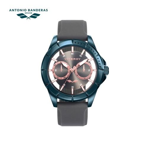 Reloj Viceroy Chico Azul Correa Gris