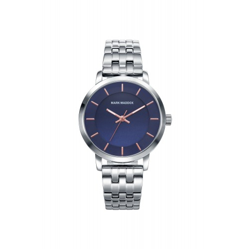 Reloj Mark Maddox Azul Cristales Brazalete Acero