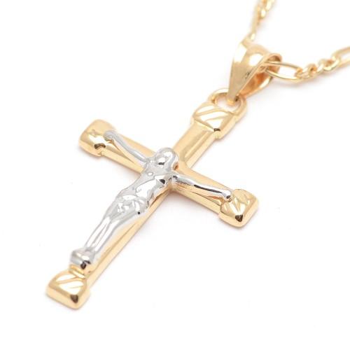 Cruz Oro Cristo Bicolor