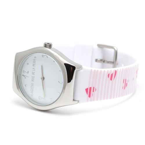 Reloj Agatha Blanco Corazones Rosa