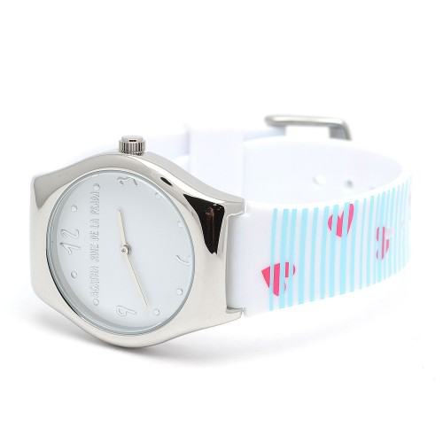 Reloj Agatha Azul Corazones Rosa