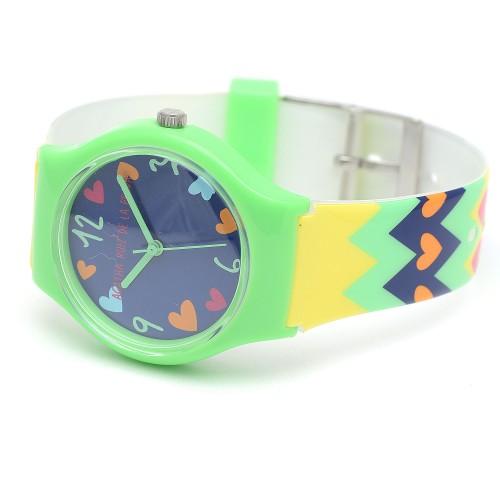 Reloj de Agatha para niña verde con correa de colores