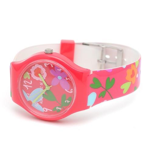 Reloj Niña Agatha Rojo Correa Flores Colores