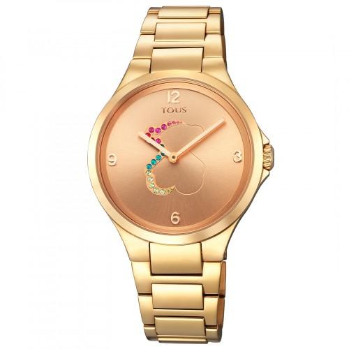 Reloj Tous Motion Dorado con Cristales de Colores