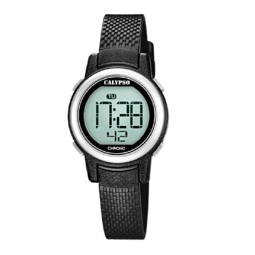 Reloj Calypso Digital Correa Goma Negra