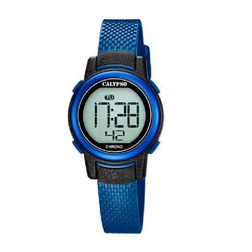 Reloj Calypso Digital Correa Goma Azul