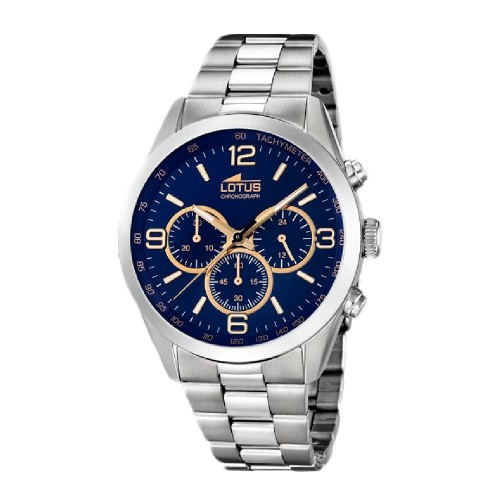 Reloj Lotus Azul Deportivo Brazalete Acero