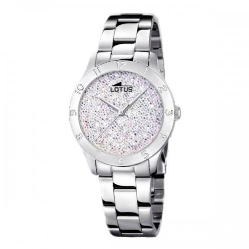Reloj para chica Lotus con cristales de swarovski y brazalete de acero