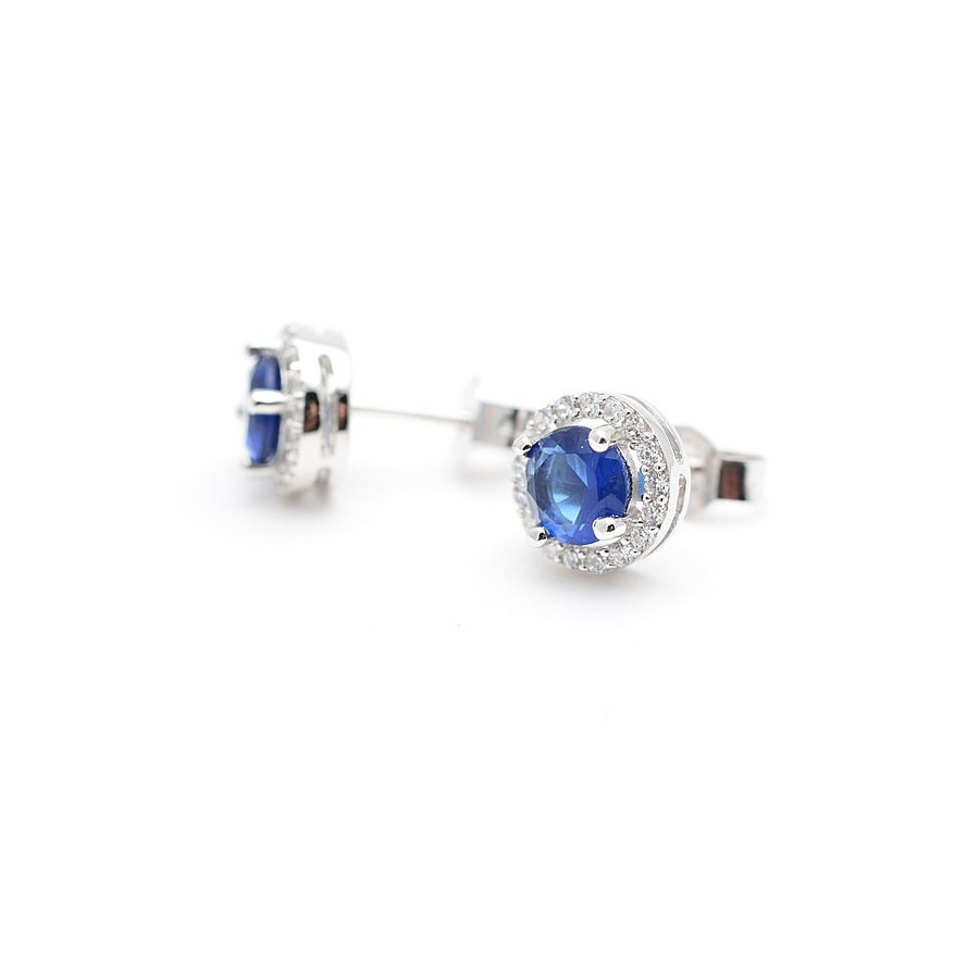 5fd9e45843ed Pendientes Plata Azul Zafiro