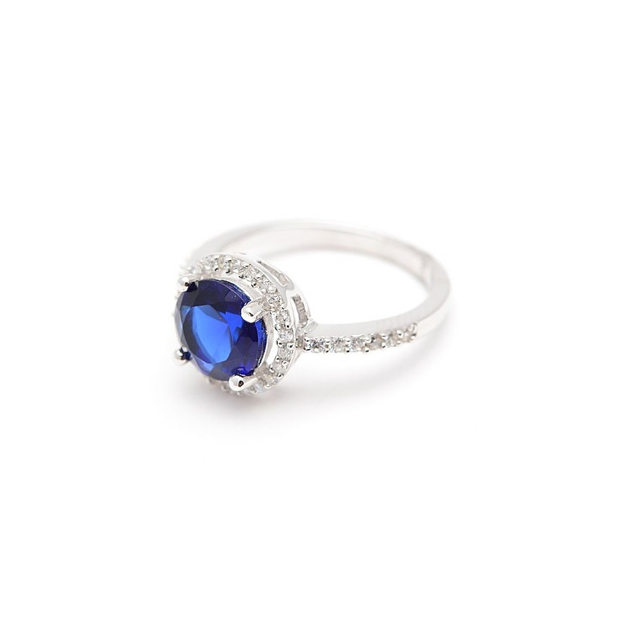 046a781434a0 Sortija Plata Azul Zafiro