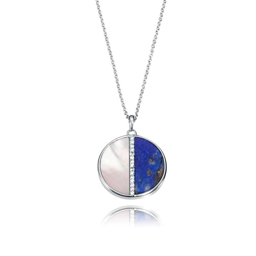 ec9349b5978b Colgante Viceroy de plata con lapislázuli azul
