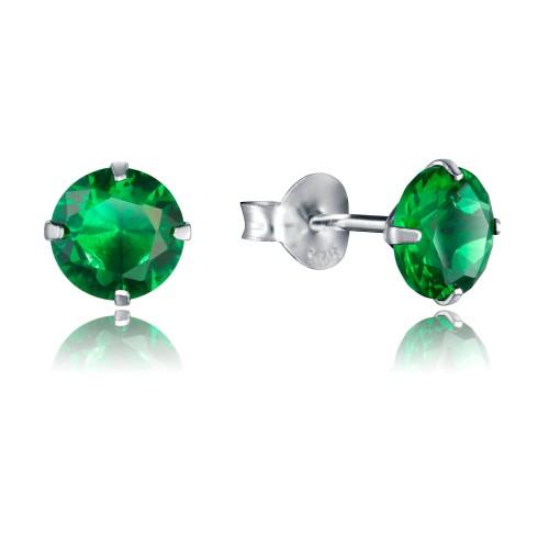 Pendientes Plata Viceroy Cristal Verde