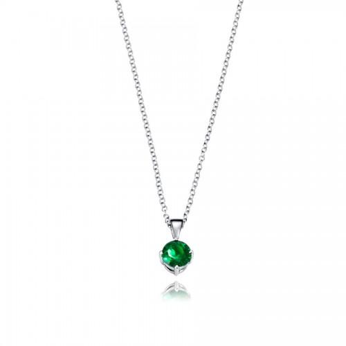 Colgante Plata Viceroy Cristal Verde