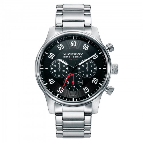 Reloj Viceroy Negro Deportivo Brazalete Acero