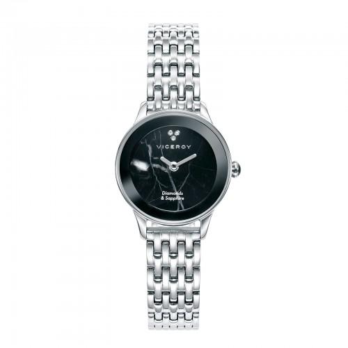 Reloj Viceroy Diamantes Negro Brazalete Acero