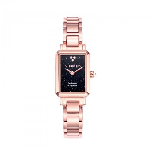 Reloj Viceroy Diamantes Cuadrado Brazalete Dorado