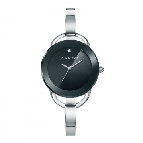 Reloj Viceroy Chica Negro Brazalete Rígido Acero