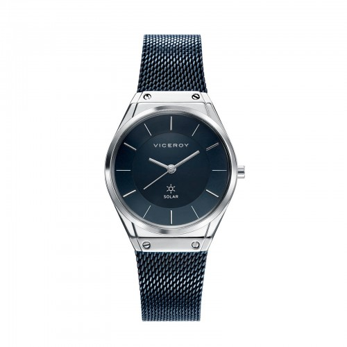 Reloj Viceroy Chica Solar Brazalete Malla Azul