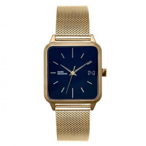Reloj Mark Maddox Cuadrado Dorado Brazalete Malla