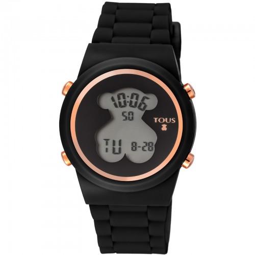 Reloj Tous D-Bear Digital Negro Goma