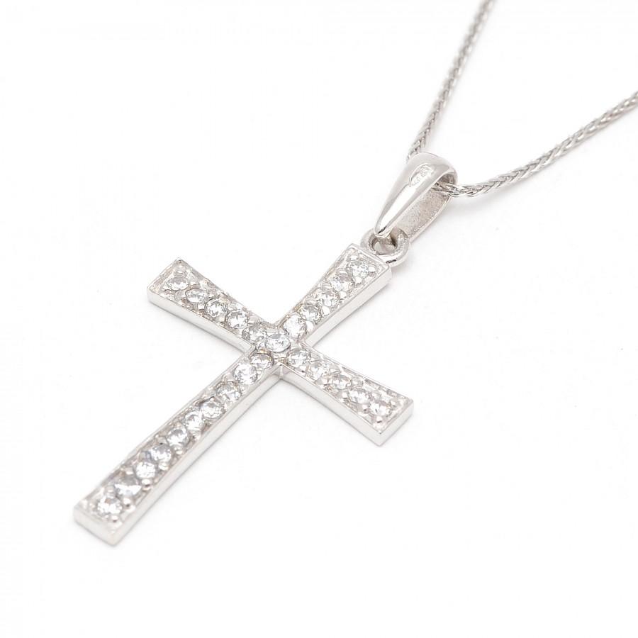 Cruz Grande Oro Blanco Circonitas