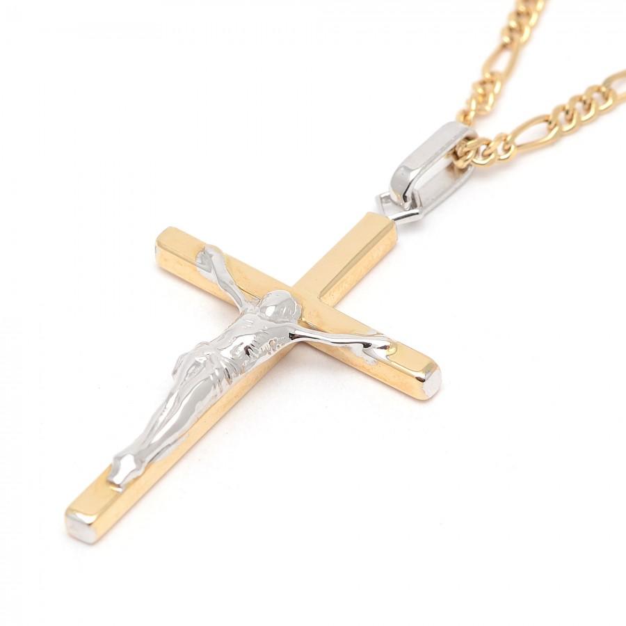 Cruz Oro Bicolor Cristo