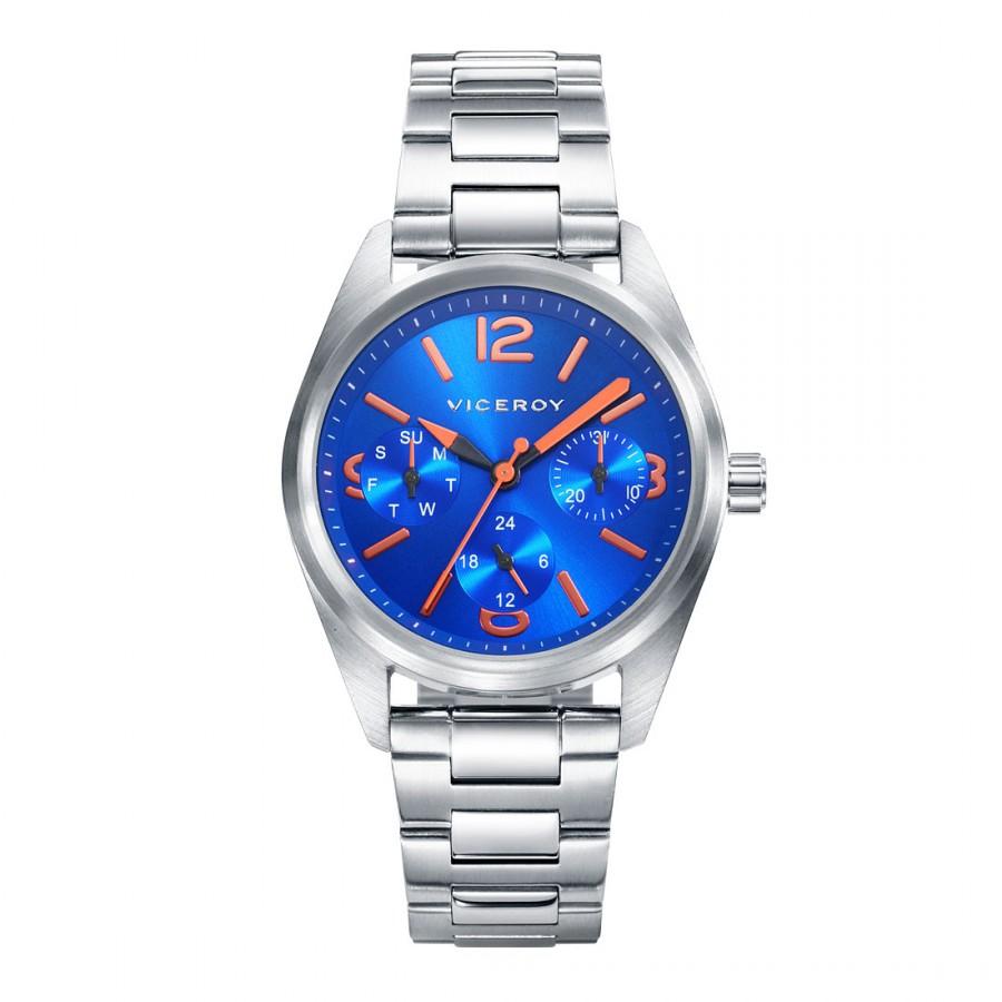 Reloj Viceroy Niño Comunión Azul Deportivo Brazalete Acero