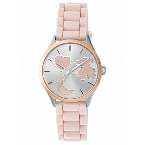 Reloj Tous Sweet Acero Correa Goma Rosa
