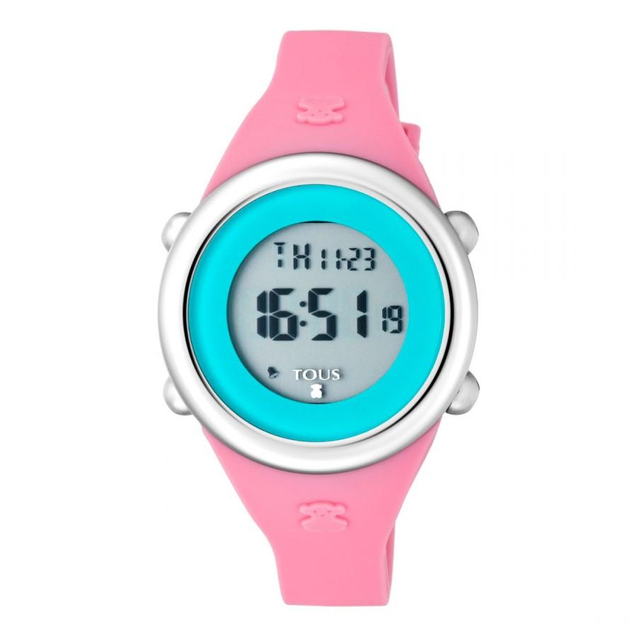 Reloj Tous Soft Digital Correa Goma Fucsia