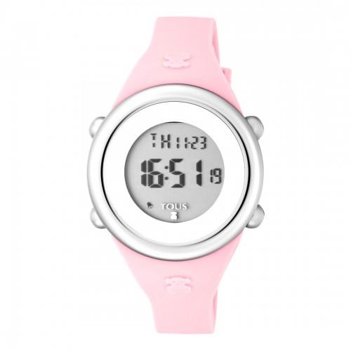 Reloj Tous Soft Digital Correa Goma Rosa