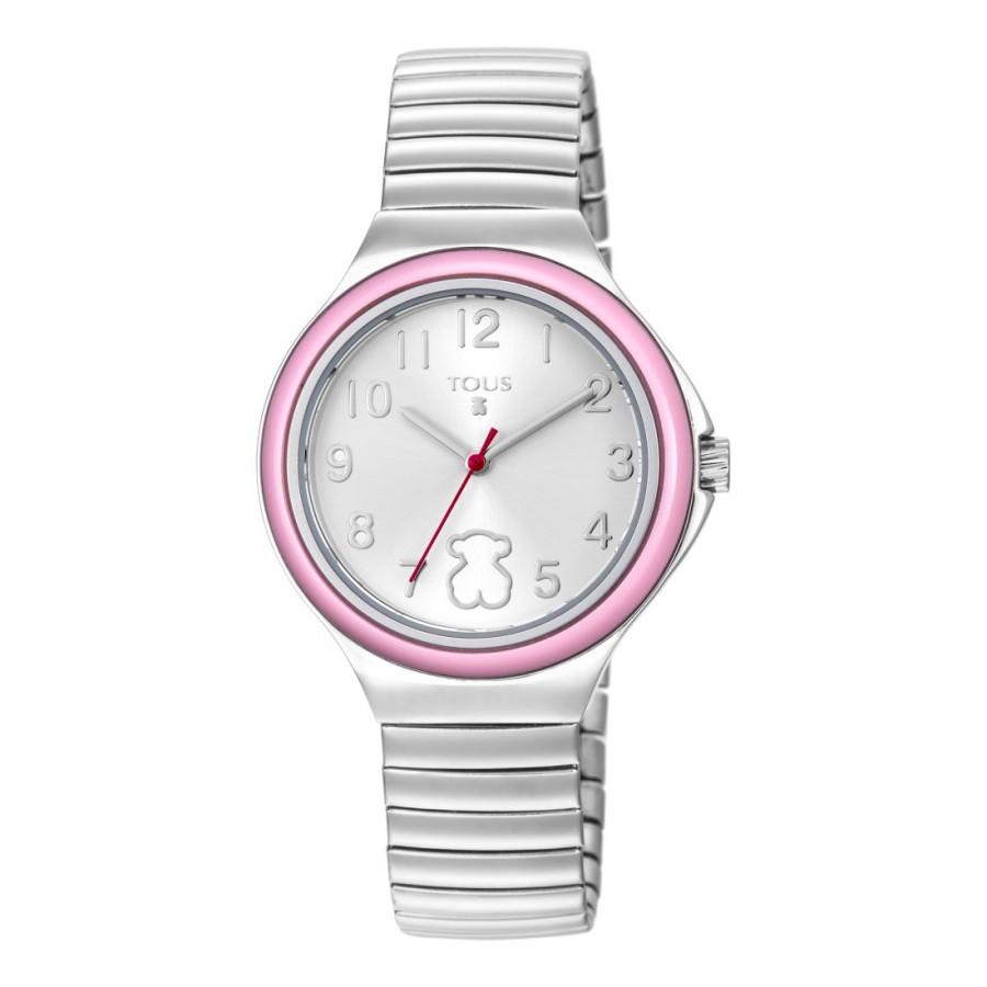 Reloj Tous Easy Rosa Brazalete Elástico Acero