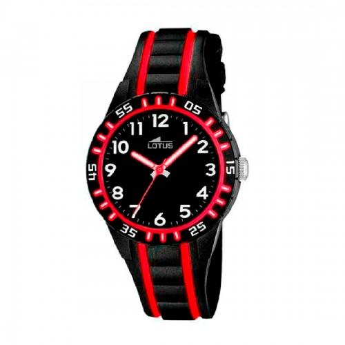 Reloj Lotus Niño Negro y Rojo