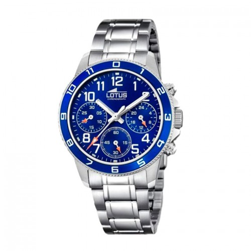 Reloj Lotus Niño Azul Deportivo Brazalete Acero