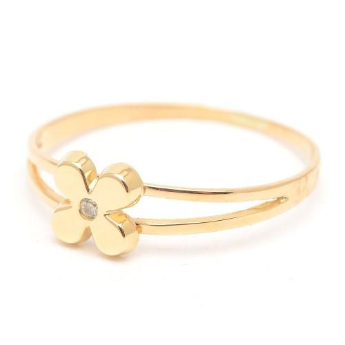 Sortija Oro Flor Circonita